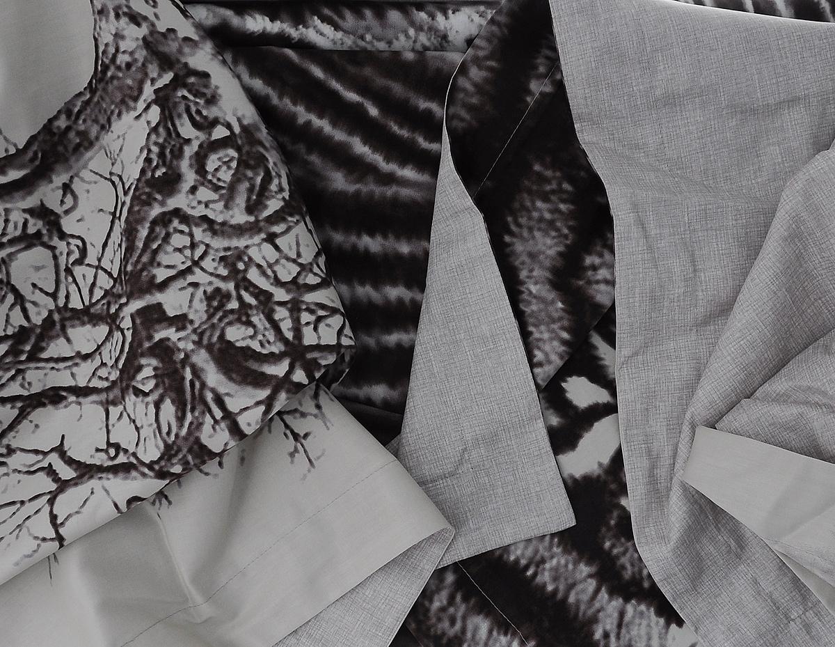 "Комплект белья Mona Liza ""Wild"", евро, наволочки 50х70, 70х70, цвет: серый, бежевый, темно-коричневый"