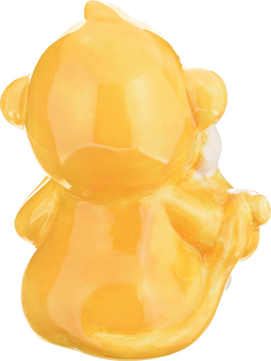 "Фигурка декоративная Sima-land ""Обезьянка Морган"", цвет: желтый, высота 11 см"