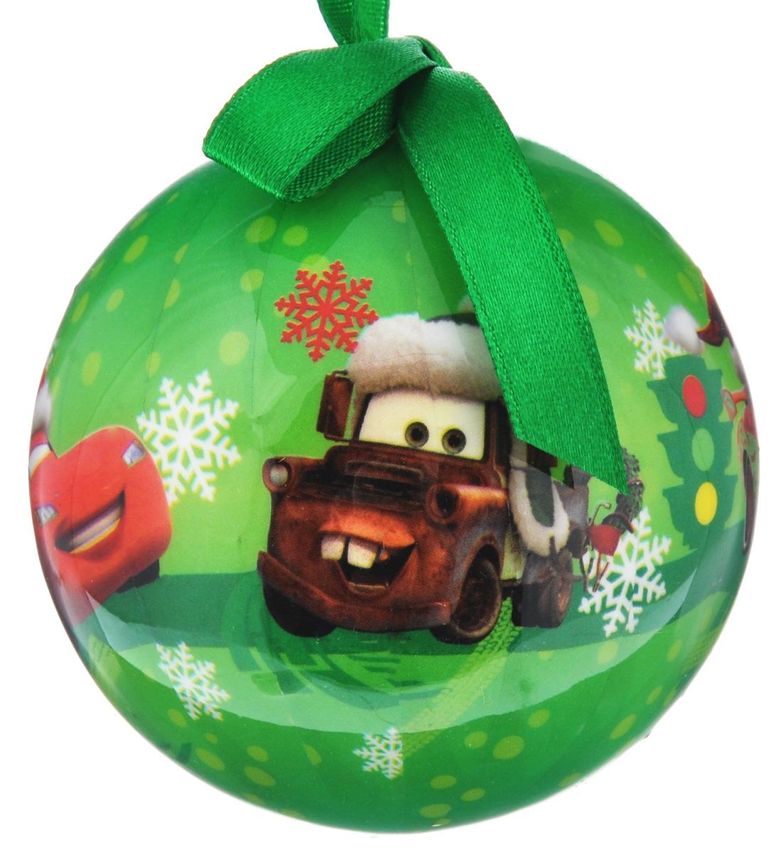 """Набор новогодних подвесных украшений Disney """"Тачки"""", цвет: зеленый, диаметр 7,5 см, 3 шт"""