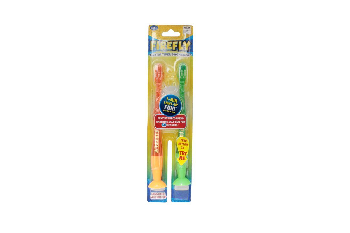 Roxy-kids Зубная щетка Firefly со световым таймером с присоской 2 шт