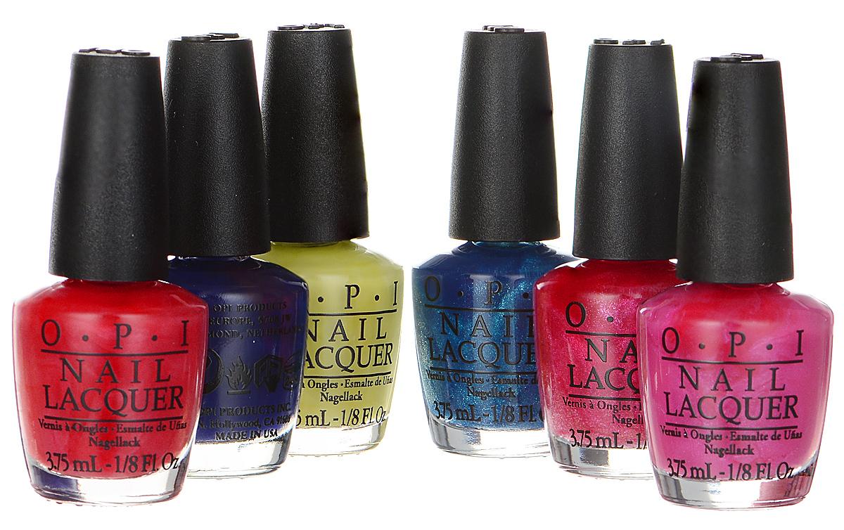 OPI Набор мини-лаков для ногтей Brights Edition, 6 х 3,75 мл