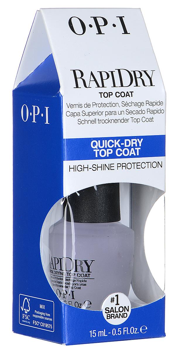 OPI Верхнее покрытие для ногтей RapiDry, быстросохнущее, 15 мл