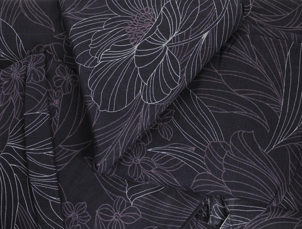"""Комплект белья Romantic """"Консуэло"""", 2-спальный, наволочки 70х70, цвет: темно-синий, сиреневый. 263488"""