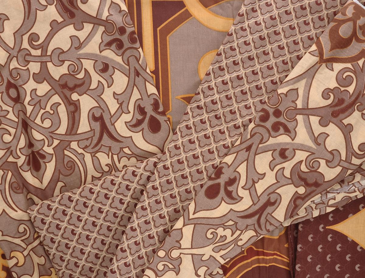"""Комплект белья Romantic """"Винсенто"""", 1,5-спальный, наволочки 50х70, цвет: коричневый, бежевый. 319097"""