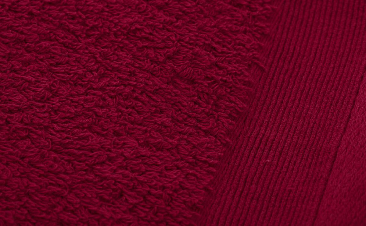"""Полотенце махровое """"Guten Morgen"""", цвет: темно-красный, 70 х 140 см"""