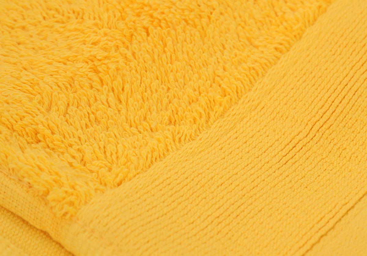 "Полотенце махровое ""Guten Morgen"", цвет: желтый, 50 х 100 см"