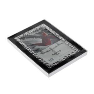 Фоторамка Image Art 6040-4B, черная с серебром 10*15