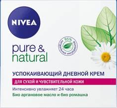 NIVEA Успокаивающий дневной крем Pure  для сухой и чувствительной кожи 50 мл (Nivea)