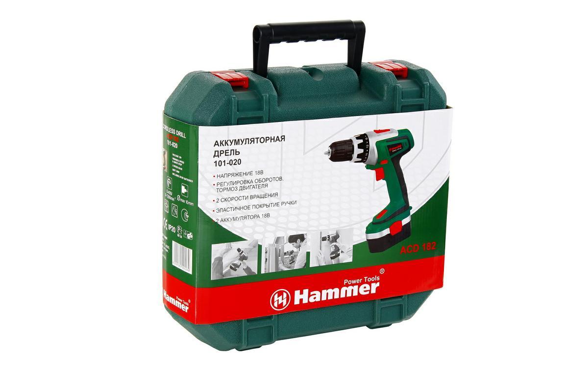 дрель аккумуляторная hammer acd182 18 в отзывы