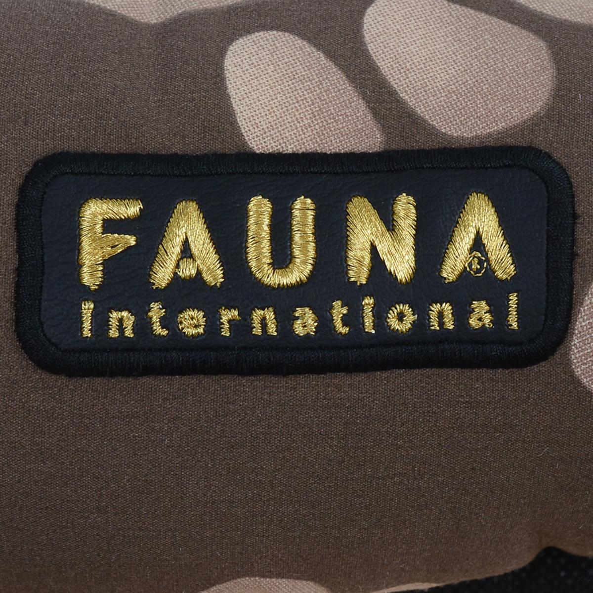 """Лежак для собак и кошек Fauna """"Oasis"""", цвет: коричневый, бежевый, 57 см х 47 см х 17 см"""