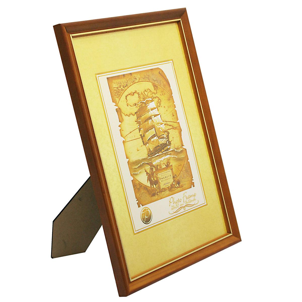 """Фоторамка Pioneer """"Nancy"""", цвет: светло-коричневый, золотистый, 21 см х 30 см"""