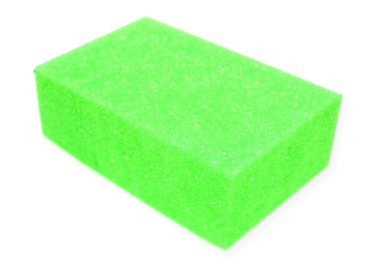 Губка для тела York Рэмбо. Для него, цвет: зеленый, 18 х 10,5 х 6 см