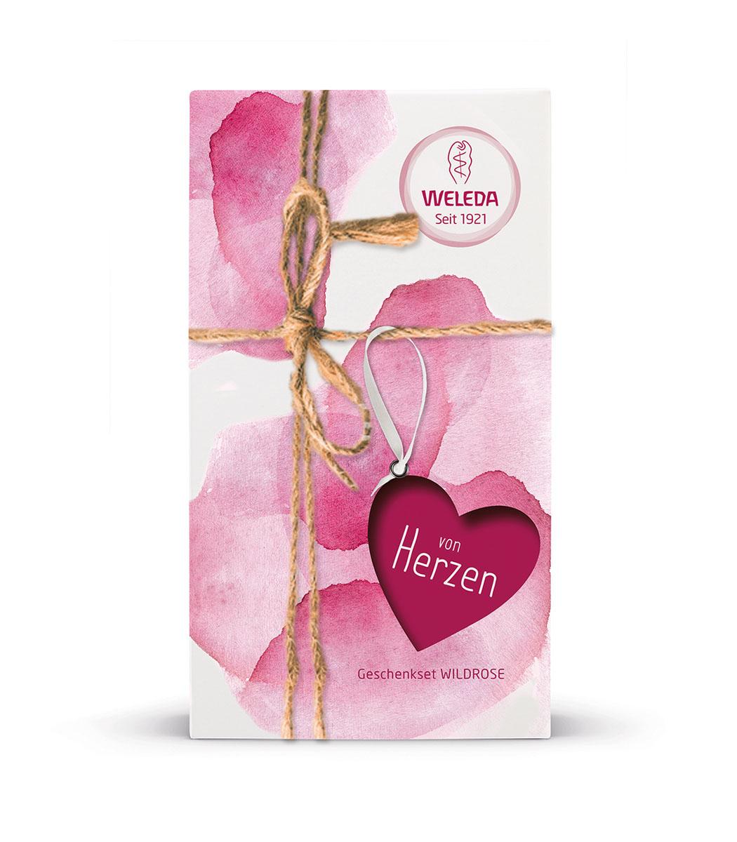"""Weleda Набор подарочный """"Роза"""": Масло дикой розы 100мл, Розовый нежный гель для душа 200мл"""