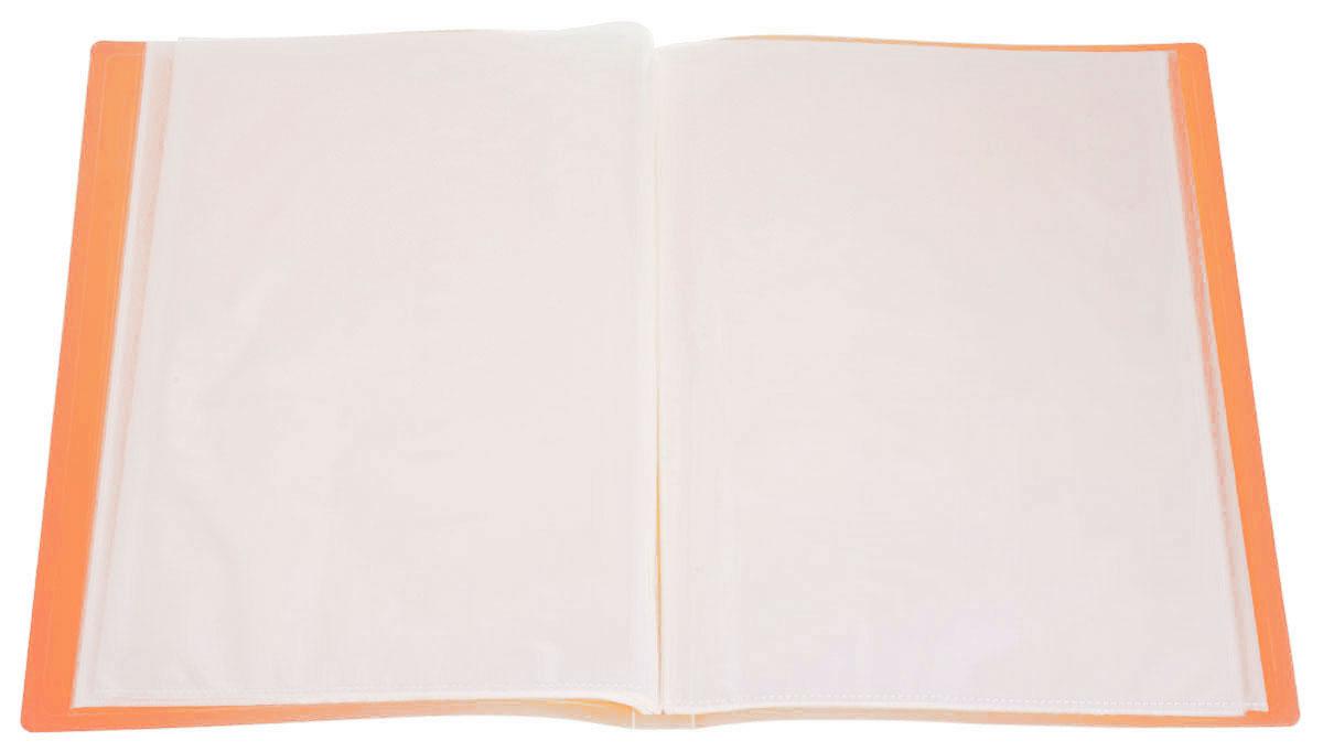 Erich Krause Папка с файлами 40 листов цвет оранжевый