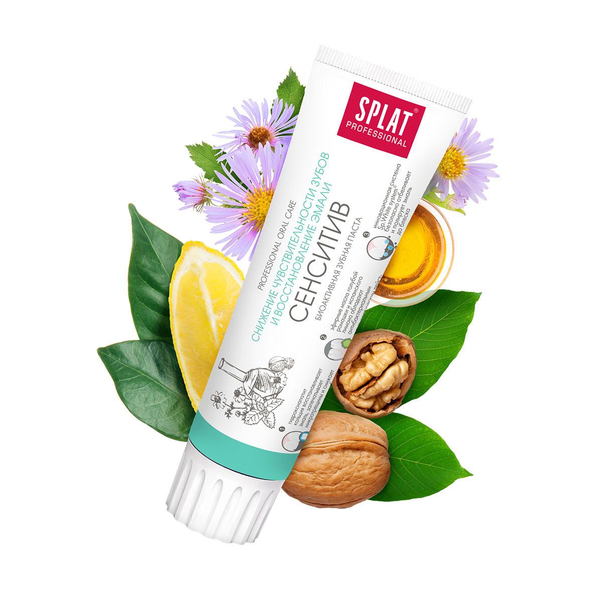 Splat Зубная паста Professional Sensitive / Сенситив, для чувствительных зубов, 100 мл
