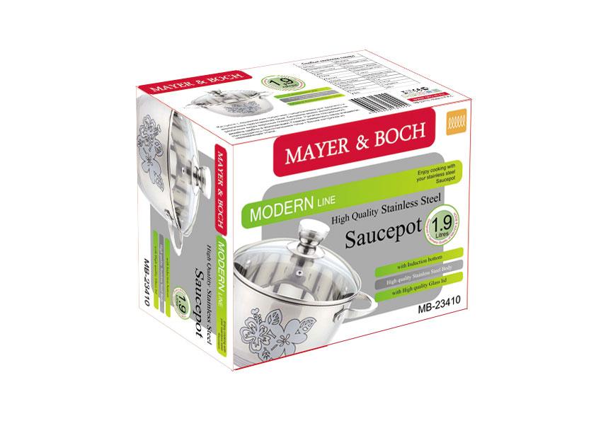 """Кастрюля """"Mayer & Boch"""" с крышкой, 1,9 л. 23410"""