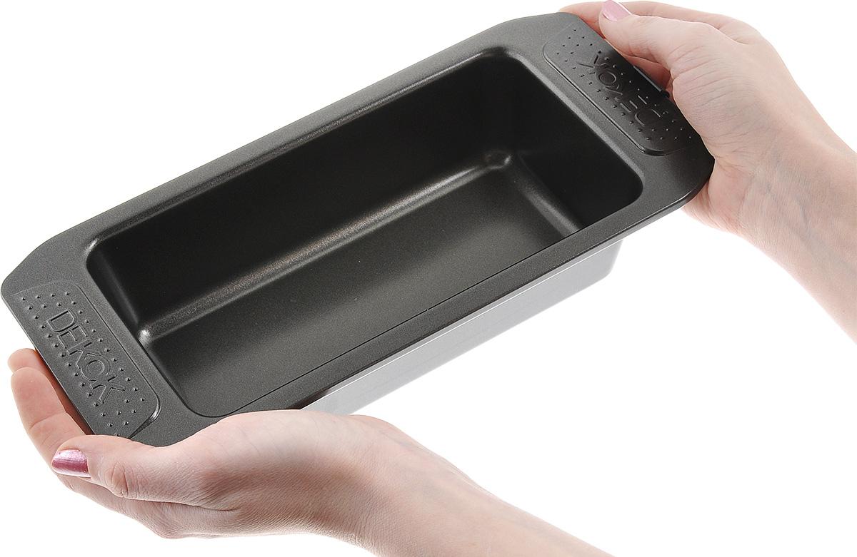 """Форма для кекса """"Dekok"""", прямоугольная, с антипригарным покрытием, 21,5 см х 11,5 см"""