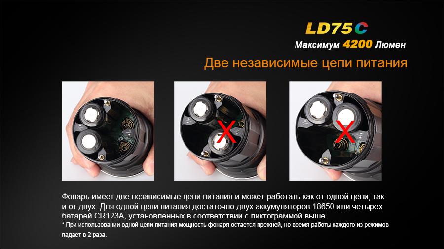 Фонарь Fenix LD75C