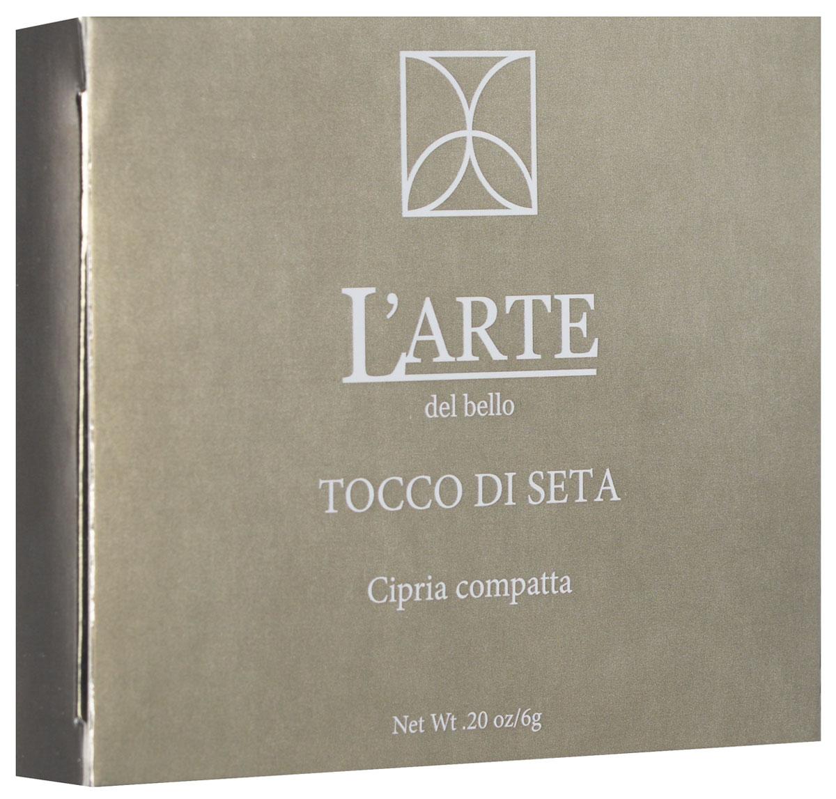 Larte del bello Пудра Tocco di Seta, компактная, тон 04 Светлый, 6 г