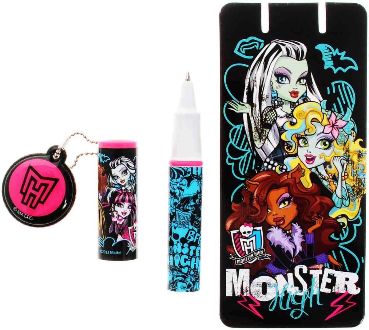 Monster High Набор канцелярский Ручка шариковая, записная книжка 30 листов