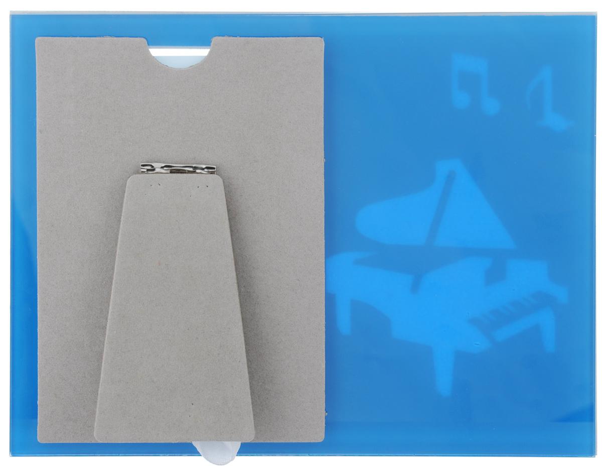 "Фоторамка Pioneer ""Music. Рояль"", цвет: белый, голубой, 10 х 15 см"