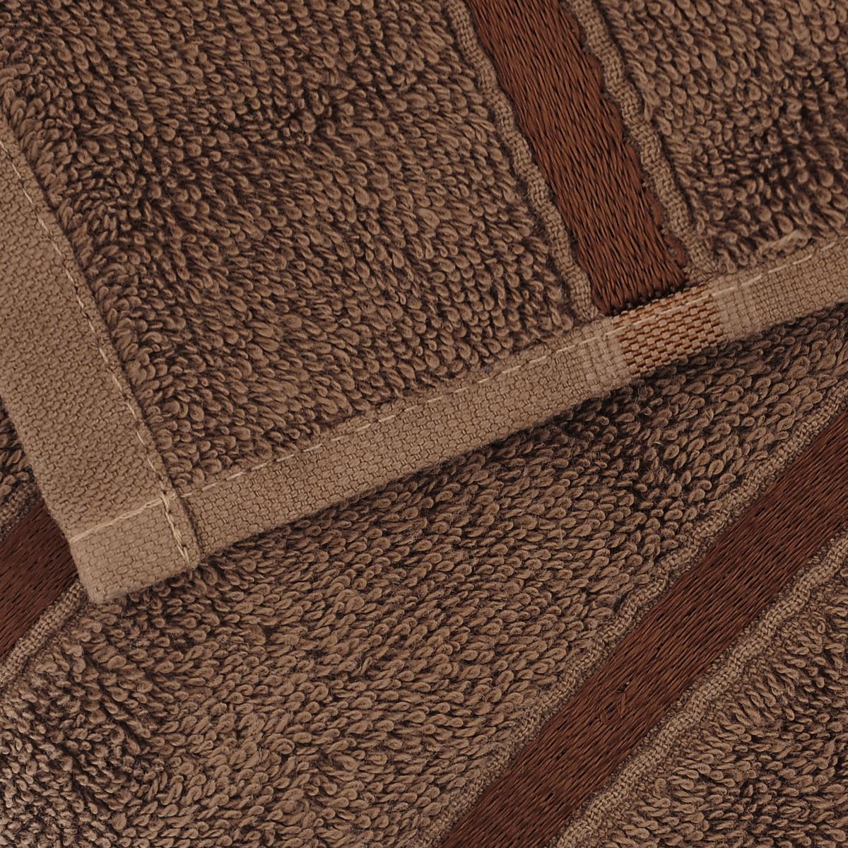 """Полотенце Togas """"Византия"""", цвет: коричневый, 50 x 100 см"""