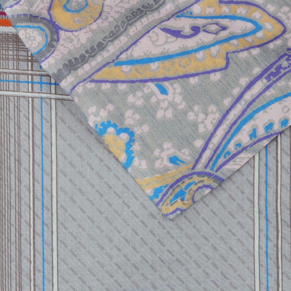 """Комплект белья Диана """"La Vanille"""", 1,5-спальный, наволочки 70х70, цвет: серый, бежевый. С-597-143-150-70"""