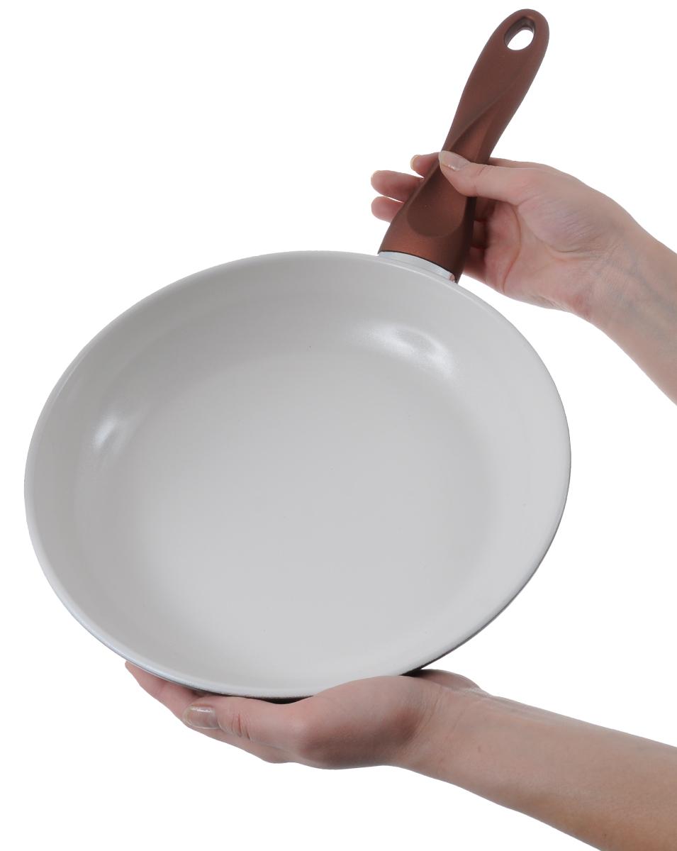 """Сковорода """"Mayer & Boch"""", с керамическим покрытием, цвет: бронзовый. Диаметр 24 см"""