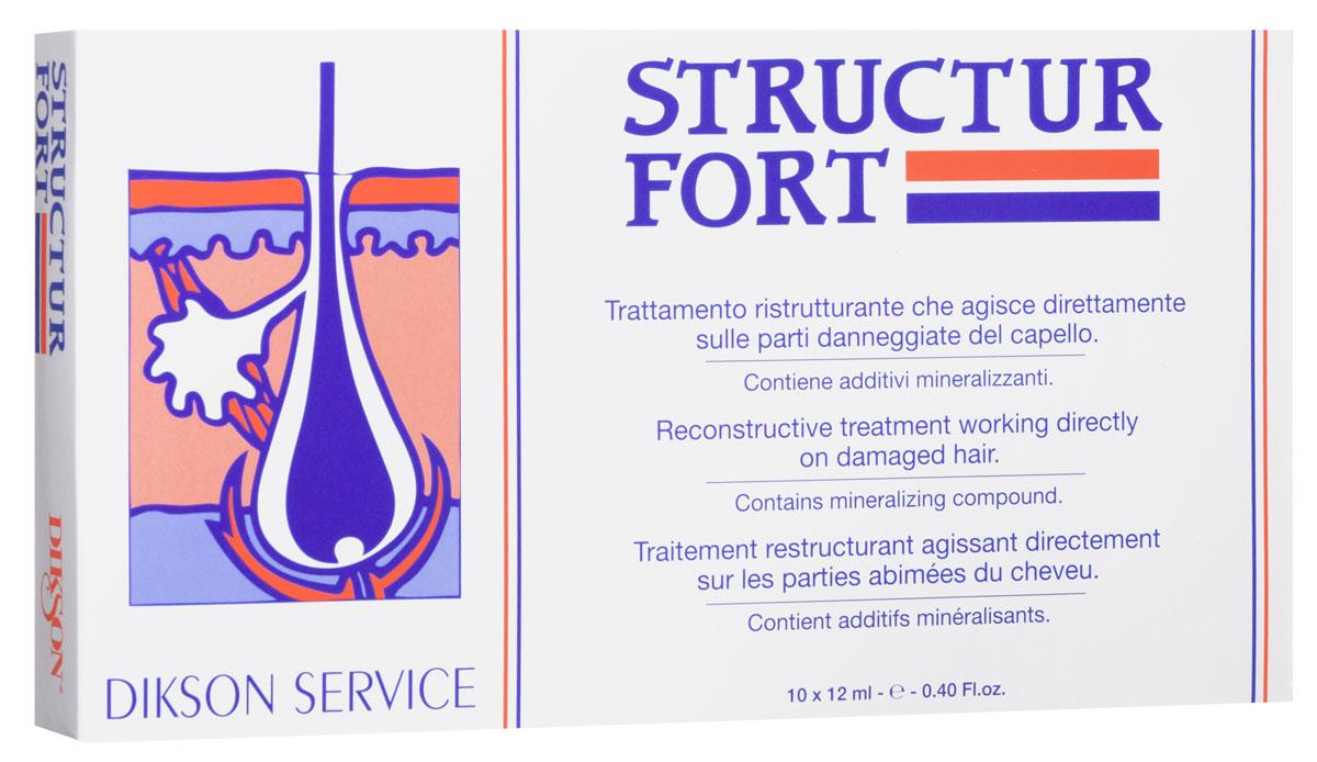 Dikson Средство мгновенного действия для восстановления безжизненных, посеченных и ослабленных волос в ампулах Structur Fort 10*12 мл