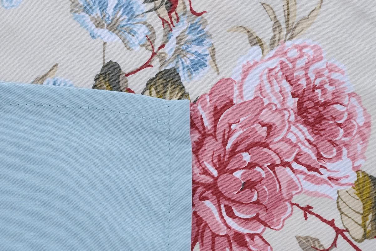 """Комплект белья Togas """"Гортензия"""", семейный, наволочки 50х70, цвет: бежевый, голубой, розовый"""