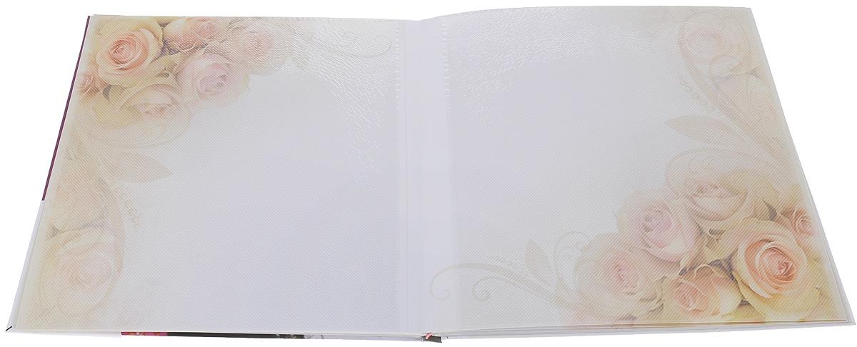"""Фотоальбом Pioneer """"Living Color. Фиолетовые цветы"""", 10 магнитных листов, 32 х 32 см"""