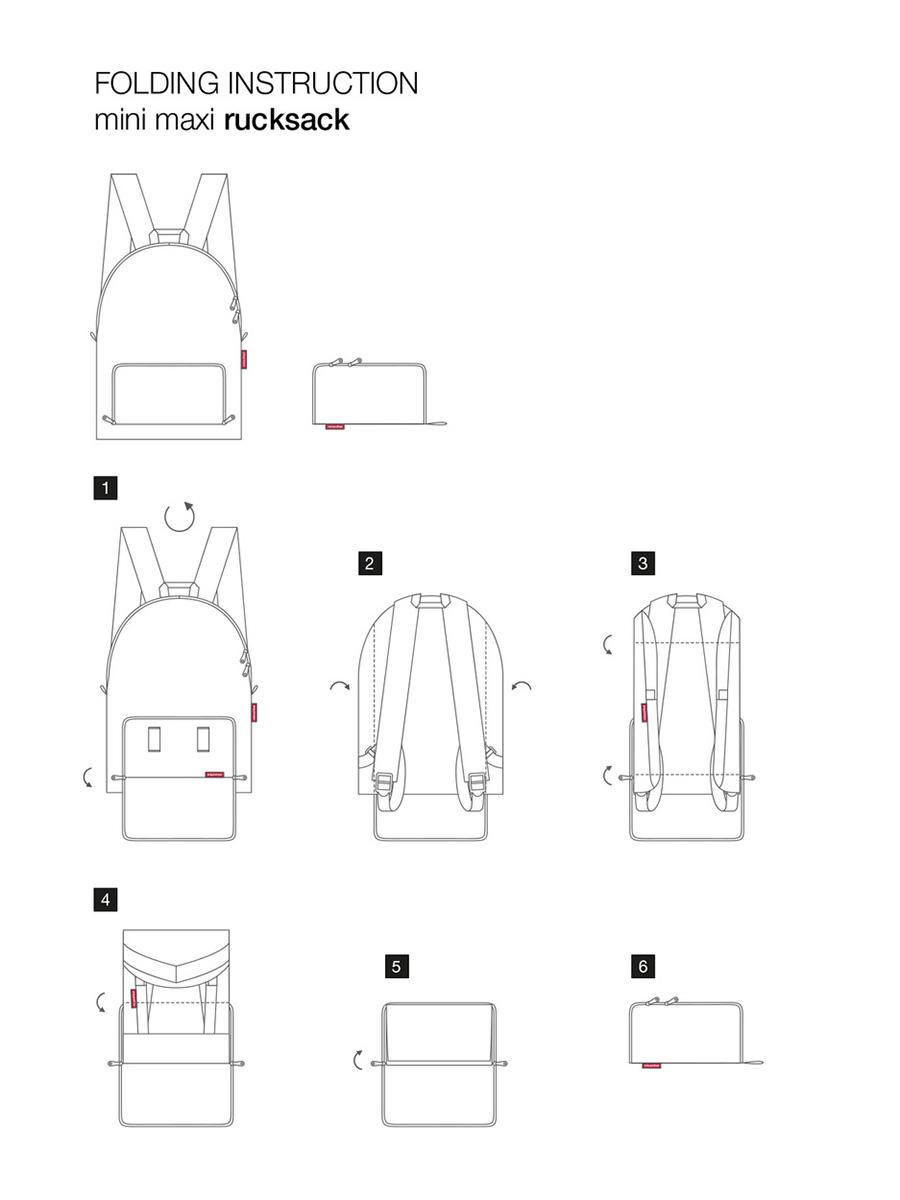 Рюкзак складной Reisenthel, цвет: красный. AP3048 ( AP3048 )