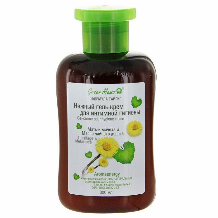 Гель-крем Мать-и-мачеха и масло чайного дерева, для интимной гигиены, 300 мл (Green Mama)
