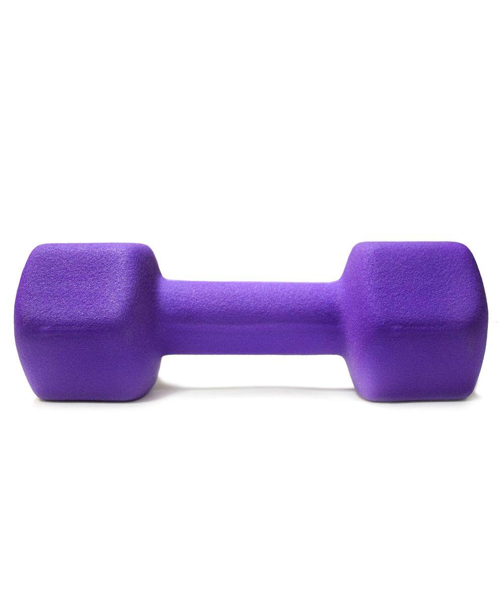 """Гантель неопреновая """"Star Fit"""", цвет: фиолетовый, 5 кг. DB-201"""