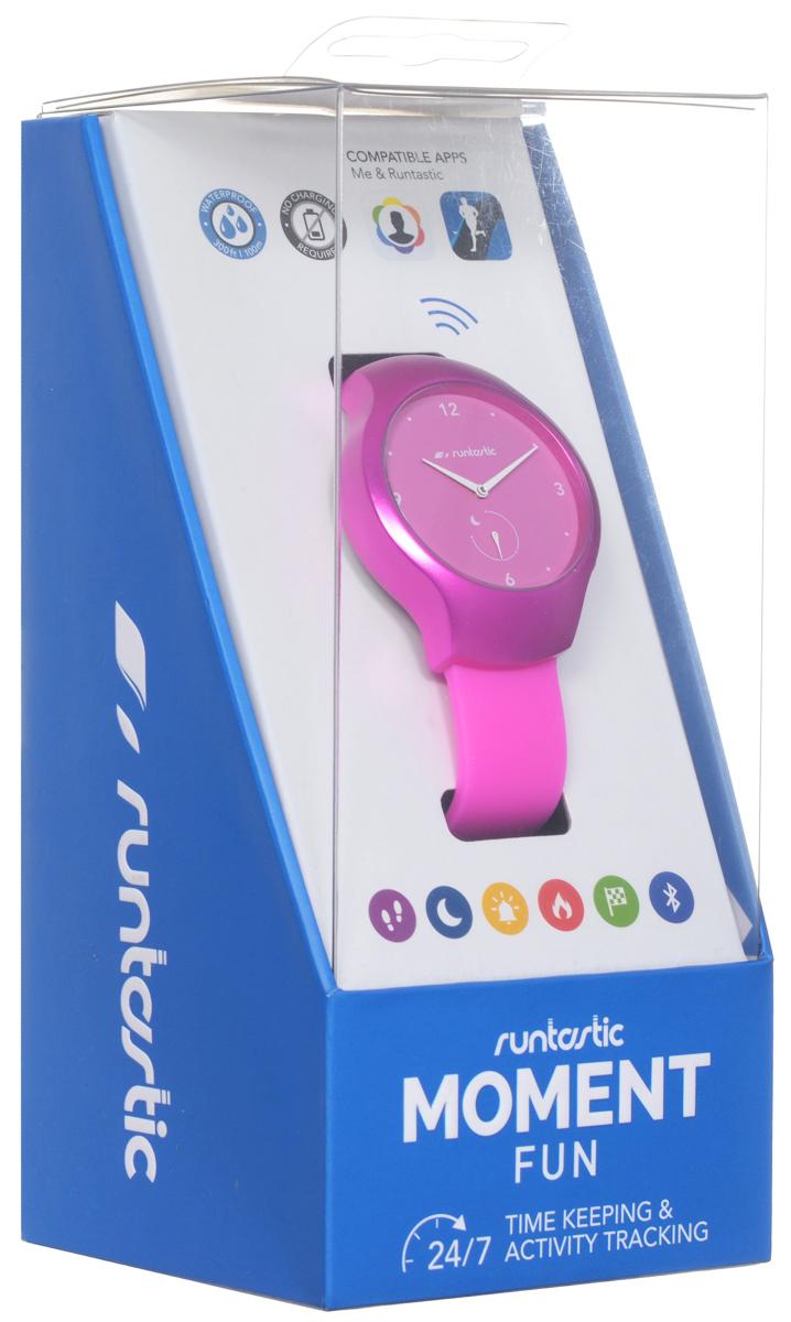 """Часы наручные Runtastic """"Moment Fun"""", спортивные, цвет: розовый. RUNMOFU3"""