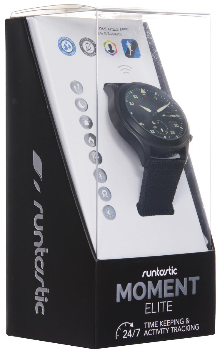 """Часы наручные Runtastic """"Moment Elite"""", спортивные, цвет: черный. RUNMOEL1"""