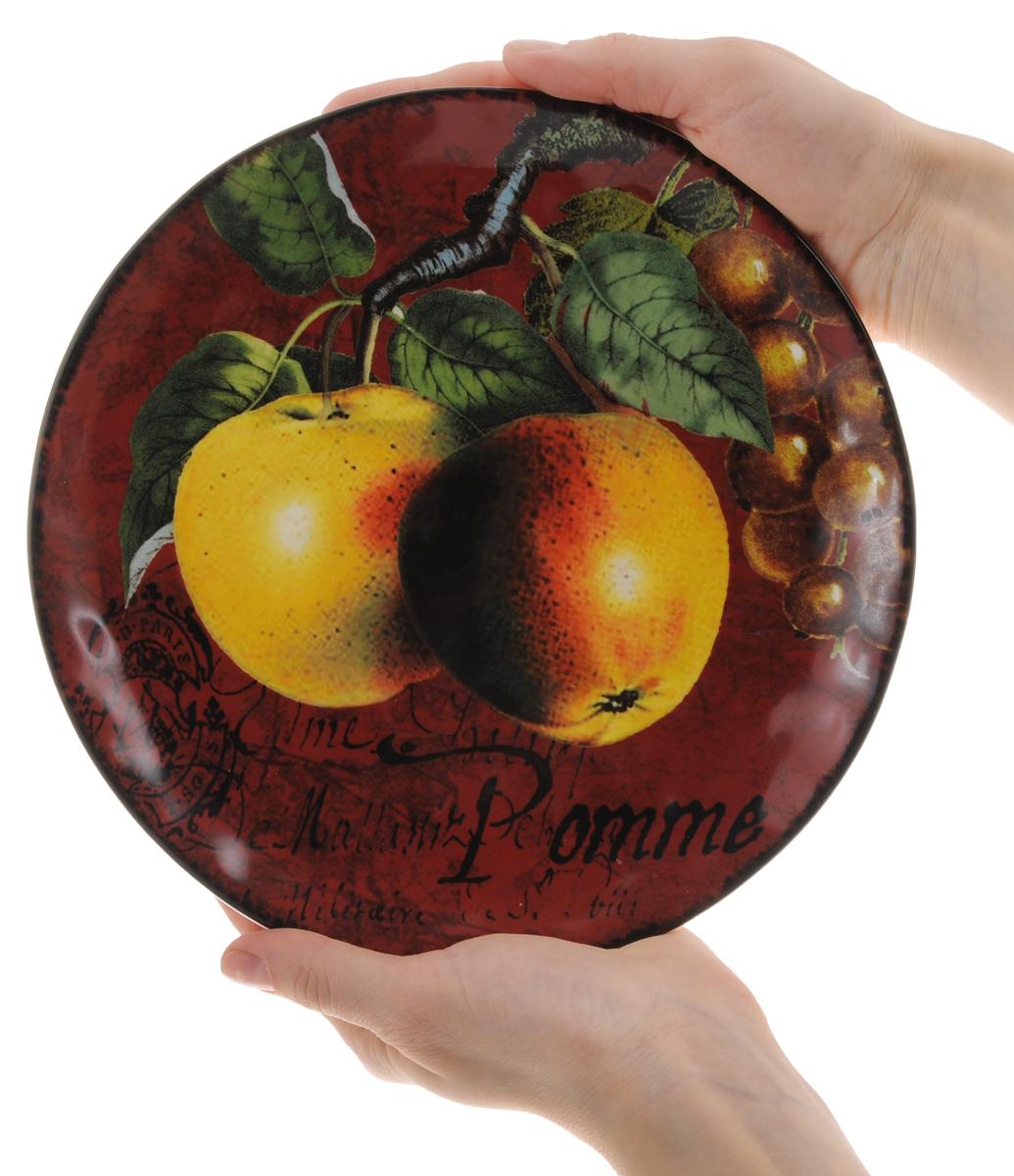 "Тарелка десертная Certified International ""Яблоки"", диаметр 22 см"