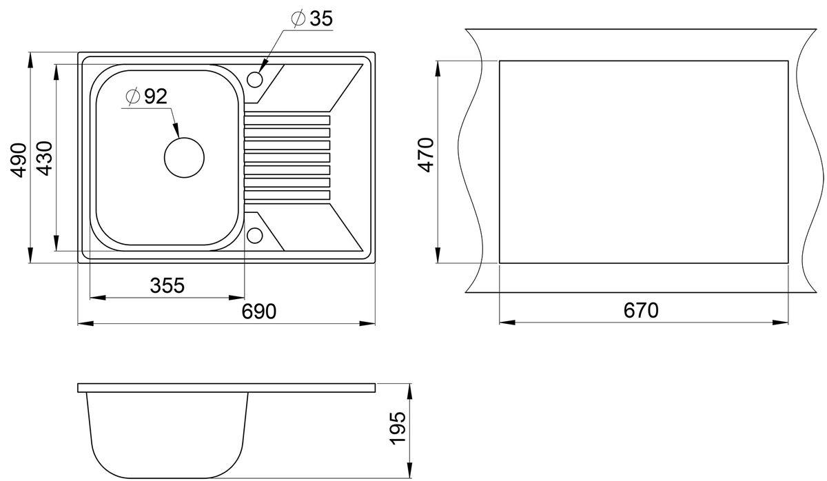Мойка Weissgauff Classic 695 Eco Granit, цвет: черный, 69,0 х 19,0 х 49,0 см267297Гранитные мойки Weissgauff Eco Granit – классическая коллекция моек, изготовленных из специально подобранных композитных материалов , содержащих оптимальное сочетание 80% каменной массы высокого качества и 20% связующих материалов. Оригинальный и функциональный дизайн - технология изготовления позволяет создавать любые цвета и формы, оптимальные для современных кухонь. Мойки Weissgauff легко подобрать к интерьеру любой кухни, для разных цветов и форм столешниц Влагостойкость - отталкивание влаги – одна из примечательных особенностей моек из искусственного камня за счет связующих композитных материалов, которые продлевают их срок службы и способствуют сохранению первоначального вида Термостойкость - подвергая мойки воздействию высоких температур, например, различными горячими жидкостями, будьте уверенны, что мойки Weissgauff – эталон стойкости и качества, так как они устойчивы к перепаду температур. Специальный состав моек Weisgauff избавляет от проблемы...