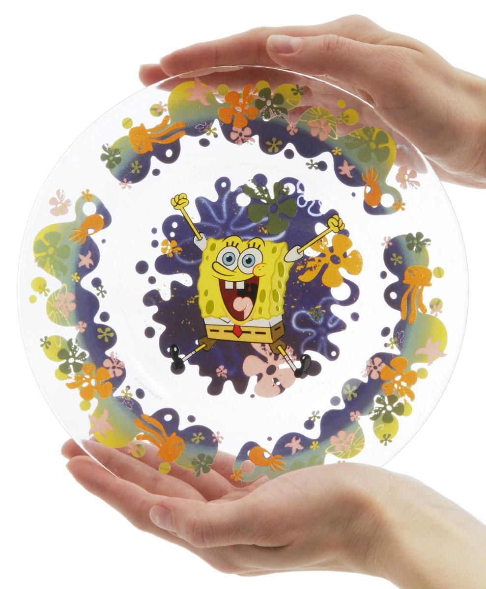 Губка Боб Тарелка детская Водный мир диаметр 19,5 см