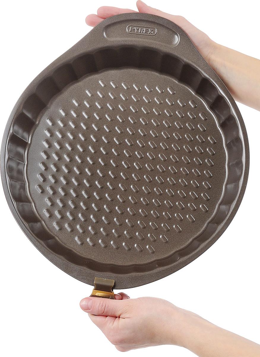 """Форма для выпечки Pyrex """"Asimetria"""", круглая, с антипригарным покрытием, диаметр 27 см"""