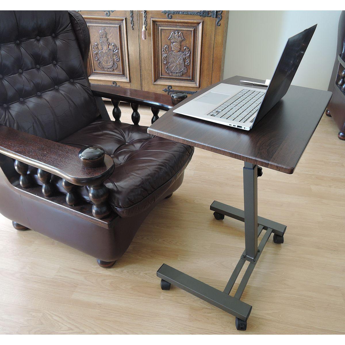 "Стол для ноутбука Tatkraft ""Salute"", на колесах, цвет: черный, 60 х 40 х 52-84 см ( 13353 )"