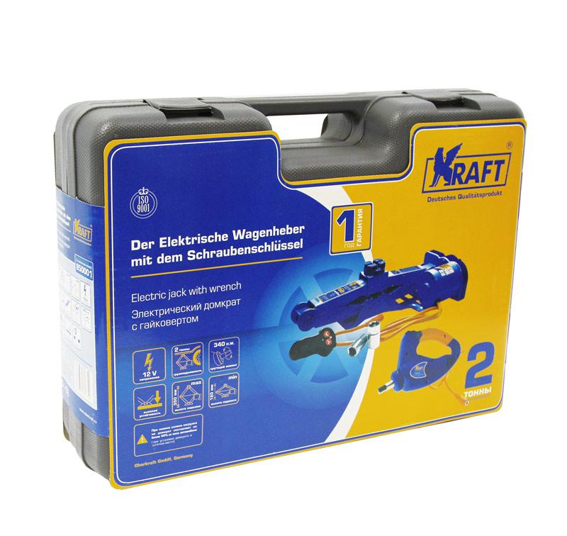 Домкрат Kraft электрический, с гайковертом, 2 т КТ 850001