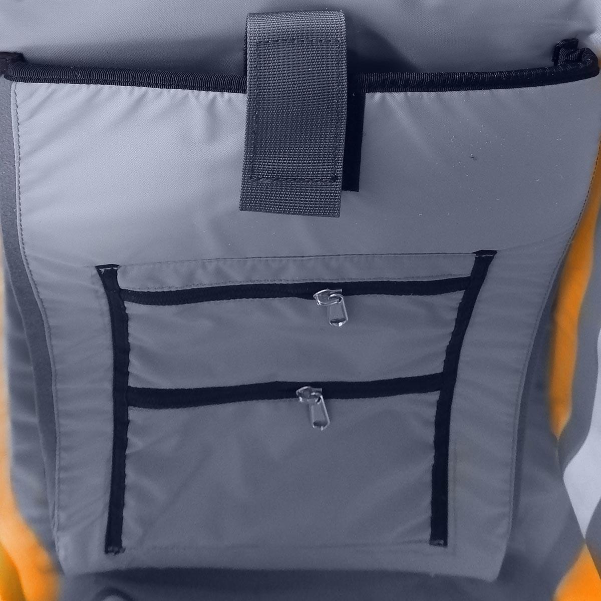Герморюкзак NOVA TOUR Геккон 40, цвет: серый, оранжевый, 40 л
