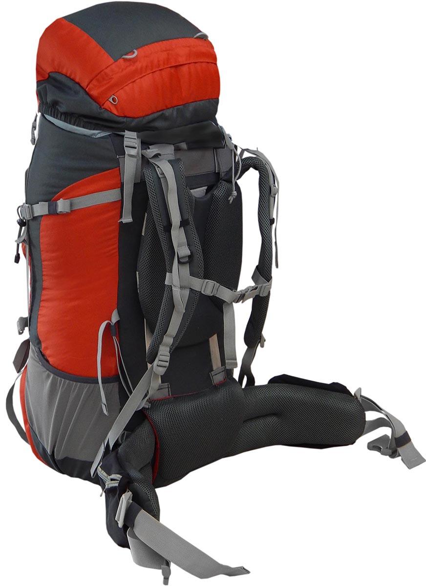 Рюкзак экспедиционный NOVA TOUR Прайд 85, цвет: серый, терракотовый, 90л