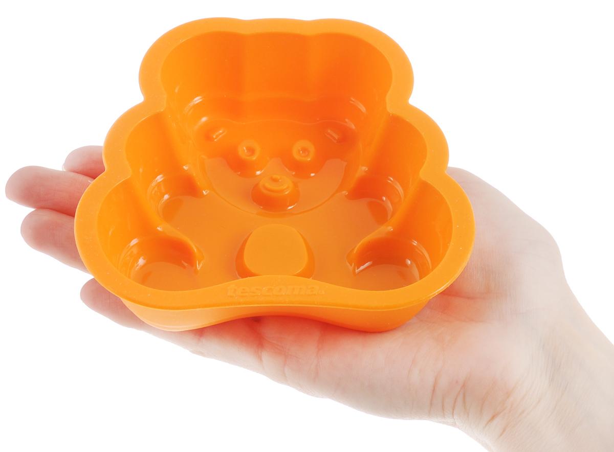 "Форма для выпечки Tescoma ""Медвежонок"", силиконовая, 11,5 х 11,5 х 3 см"
