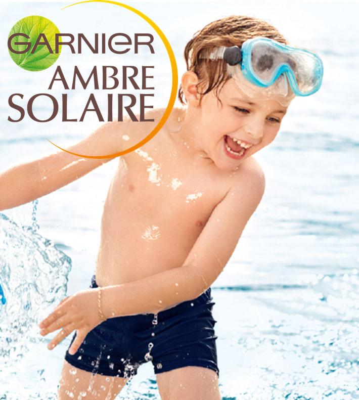 Garnier Детский сухой солнцезащитный спрей Ambre Solaire Анти-Песок, водостойкий, гипоаллергенный, SPF 50+, 200 мл