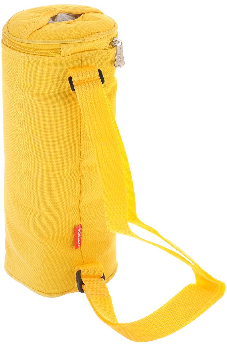 """Сумка-холодильник для бутылок Tescoma """"Coolbag"""", цвет: желтый, 11,5 х 11,5 х 32,5 см ( 892314_желтый )"""