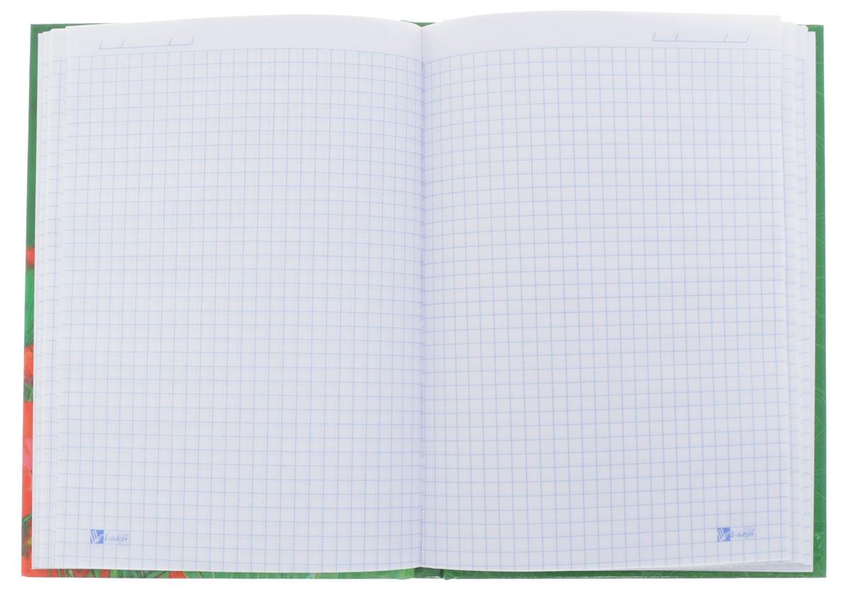 Listoff Записная книжка Красивые маки 100 листов в клетку