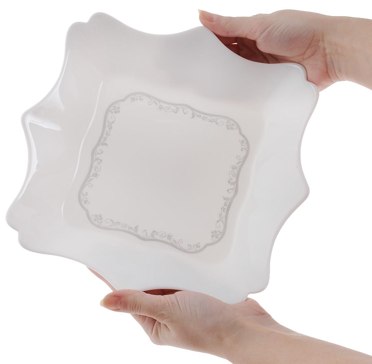 "Тарелка глубокая Luminarc ""Authentic Silver"", цвет: белый, 22,5 х 22,5 см"