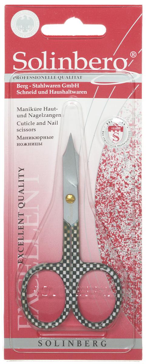Ножницы маникюрные Solinberg, универсальные, цвет: зеленый